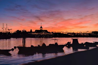 Views of Newport Harbor's incredible sunsets are only steps away, every day!