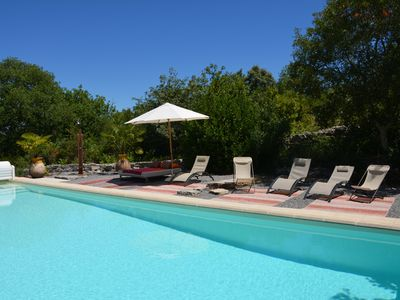 Photo for Beautiful eighteenth mas on private grounds 3 ha, 5X12 m pool, Les Vans 5 minutes