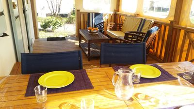 Photo for QUIET CHALET WITH SWIMMING POOL HEATED + BIKES