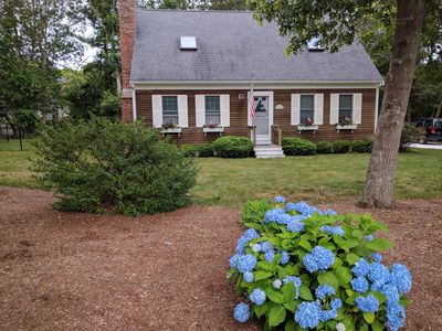 Photo for Hyannisport 3br/2ba, A/C, hot tub, .5mi from private beach, town beach pass!