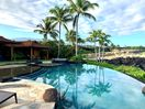 Views of Hualalai present a gorgeous backdrop to this estate