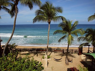 Photo for BEACHFRONT Apt D on the famous Sandy Beach.....Best location in Rincon!!