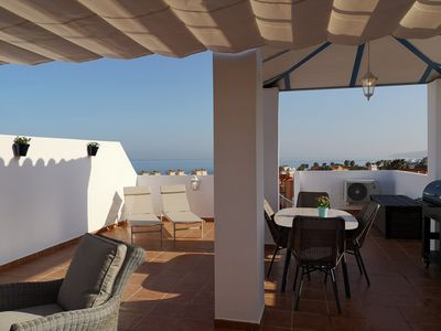 Photo for Large roof terrace overlooking the Mediterranean
