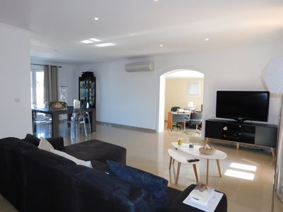 Photo for Air-conditioned villa 140m², 3 bedrooms, terrace, garden, near Ile Rousse center