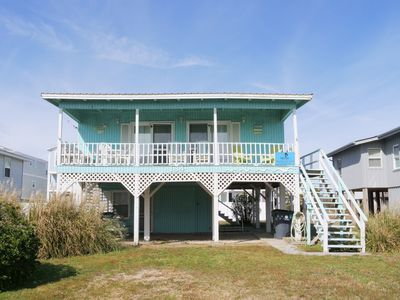 Photo for New to PROACTIVE Vacations and Now Pet Friendly for 2019 - Grogan-Hailey Cottage is as vintage and beachy vibe as they get.  One of the remaining classic Holden Beach homes with all the charm for the laid back vacation you are dreaming of.