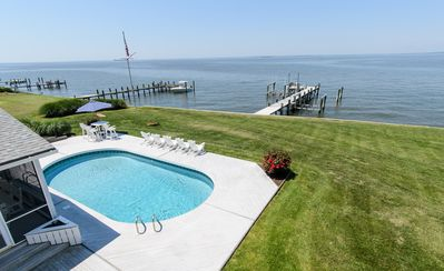 Photo for Waterfront W/ Pier Chesapeake Bay Home,  Kent Island - Perfect Sunsets and Pool!