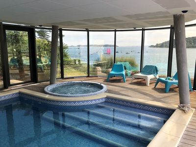 Photo for Villa in pink granite SUPERB SEA VIEW with SWIMMING POOL and JACUZZI in Perros-Guirec