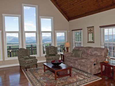Photo for Mtn View Manor. Luxury in the Sky! Mountain & Lake Views Game Room, Hot Tub