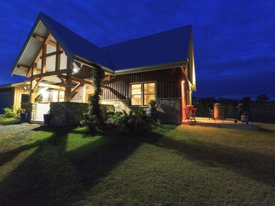 Photo for Luxury off-grid home with wood fire oven. Pet & family friendly, set on 3 acres.