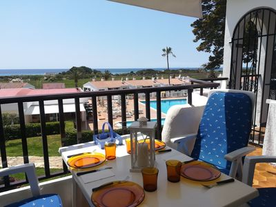 Photo for Son Bou Room Apartment 300 m from the beach with beautiful sea view