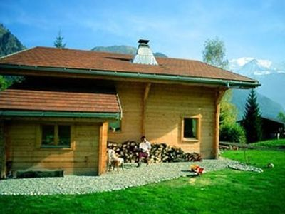 Photo for Garden charming appartment, in front of Mont Blanc range
