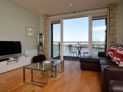 Watch TV or take in the stunning sea views