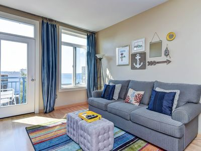 Photo for Belltown Condo With Water Views From Every Window! Pool, Hot Tub, Fitness Center and Roof Top!
