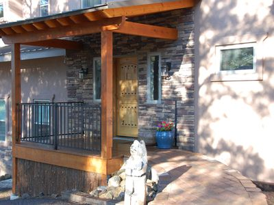 Photo for Fantastic home, huge Mountain views from 3 decks, hot tub and most rooms of home