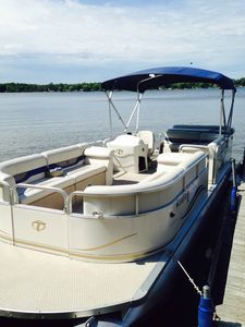 You have exclusive use of our 24' Tahoe pontoon boat to fully enjoy the lake.