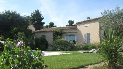 Photo for Charming Provencal house in Vaison la Romaine with heated and private pool