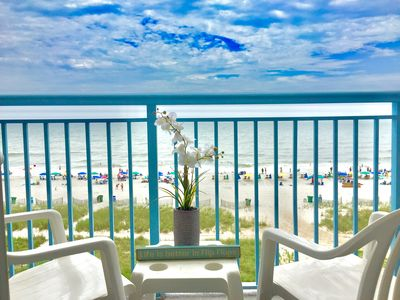 Photo for Beautiful Direct Oceanfront 2BD/2BA Suite on 4th Floor at Roxanne Towers
