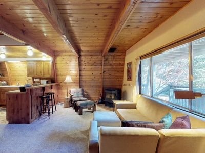 Photo for NEW LISTING! Rustic home w/large decks & wood stove-located in heart of McCall