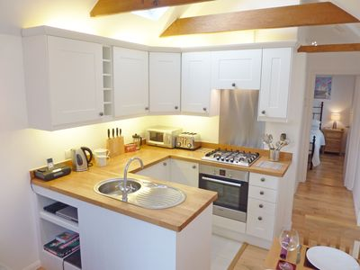 A kitchen equipped to prepare any meal and a dishwasher for when you're done!