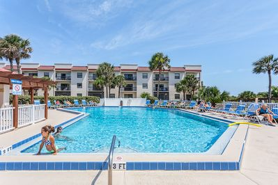 Walk over and take a dip in the pool - Ocean Village Club provides everything you're looking for in a Florida family vacation!  We have two pools (one heated!), library, shuffleboard, tennis, BBQ grills, and most important, we have direct access to St. Augustine Beach.
