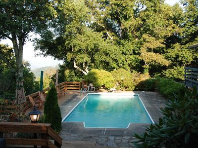 Photo for Scenic Mountain Retreat - SPECTACULAR Views, Hot Tub, Private Pool; Asheville Destination!