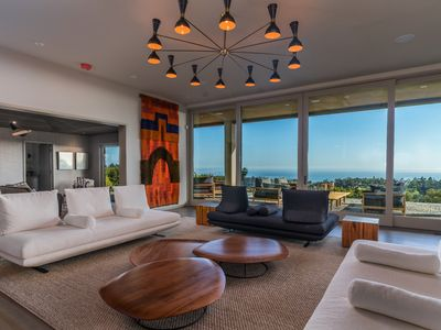 Photo for Contemporary Estate, Heated pool, Ocean views, gated 2+ Acres