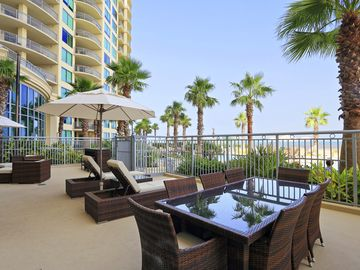 First Floor luxury poolside and great view of Grand Beach!