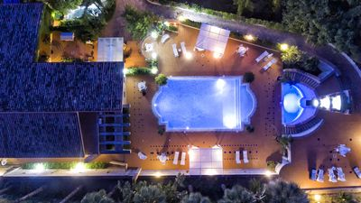 Photo for Heated external Jacuzzi Pool  | Luxury Villa with Private Pool &  Pine Forest