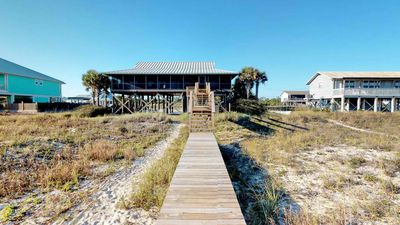 """Photo for Ready After Hurricane Michael! Spoil Yourself in Beachfront Luxury, and Your Pets Too! Hot Tub! Fireplace! Elevator! 3BR/3BA """"Absolutely Paradise"""""""
