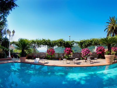 Photo for Amazing Historic Villa with marble pool & tropical garden in Amalfitan Coast