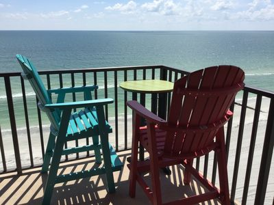 Photo for Beach-Front Condo With 180-degree Views Of The Gulf Of Mexico