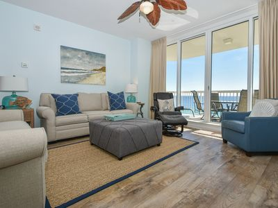 Photo for Gulf-Front Condo: Beach Service Included! Spectacular Views! Wood Flooring!😎