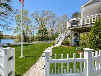 Photo for Beautiful waterfront vacation home with a private dock