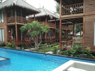 Photo for Bungalow 4-Adult Gili-Trawangan Sa-dev Walk-Beach