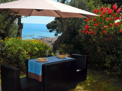 Photo for House with wi / fi and beautiful sea view surrounded by olive trees and private garden