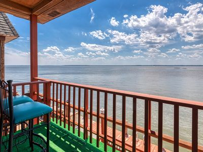 Photo for Dog-friendly waterfront condo w/ a full kitchen, furnished balcony, & views