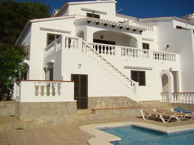 Photo for Semi-detached villa with private pool and sea views, located in San Jaime, a few meters from the sho