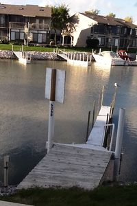 Dock available for your use during condo rental. 30' dock