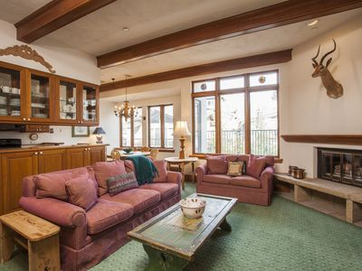 Photo for Vail Village Plaza Lodge premier location - 2 bedroom/2 bath