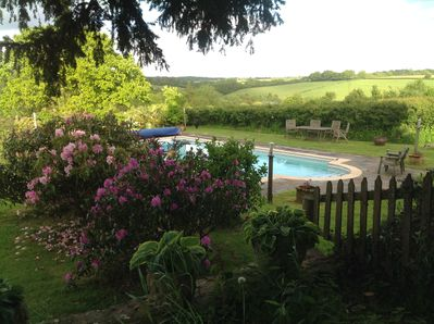 Our secluded pool