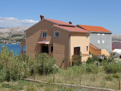 Photo for One bedroom apartment with balcony and sea view Pag