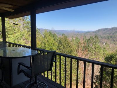 Enjoy your favorite drink while gazing at the beautiful NC mountains!