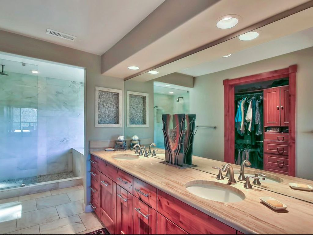 Tranquil modern luxury rental w heavenly lake tahoe views and hot tub zephyr cove lake - Amazing classic luxury bathroom inspirations tranquil retreat ...
