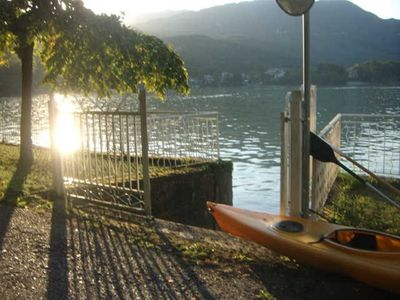 Photo for Independent apartment with garden directly on the Avigliana lake.