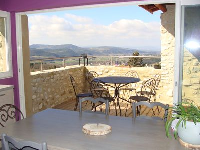 Photo for Stone house in the old village of Mirabel overlooking the Drôme River