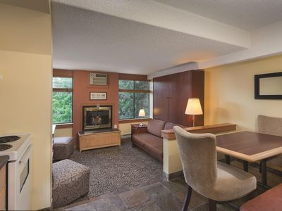 Photo for Whistler, Canada: Studio w/Fireplace, Jetted Tub, FREE WIFI, Resort Pool