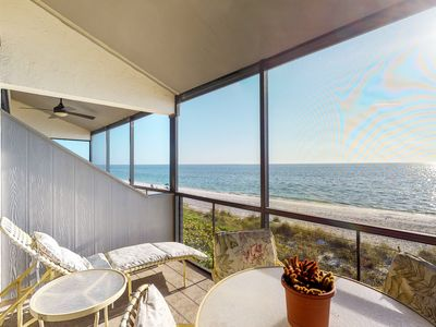 Photo for NEW LISTING! Great beachside condo with a shared pool and balcony views!