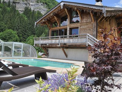 Photo for CHALET MORZINE LUXURY WITH POOL