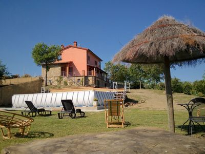 Photo for Villa with above ground swimming pool in the rolling Tuscan hills with a beautiful view