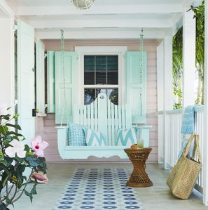 Watch the world go by on the front porch swing.